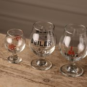 Boiler Brewing Company Belgian Stemware Beer Glasses